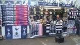 Stalls outside White Hart Lane