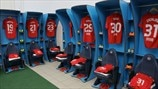 Liverpool FC dressing room