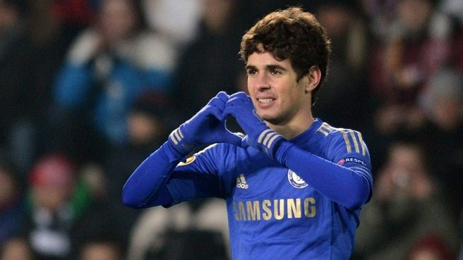 Oscar's night as Chelsea beat Sparta