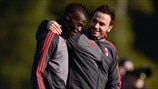 Milan training and press conference