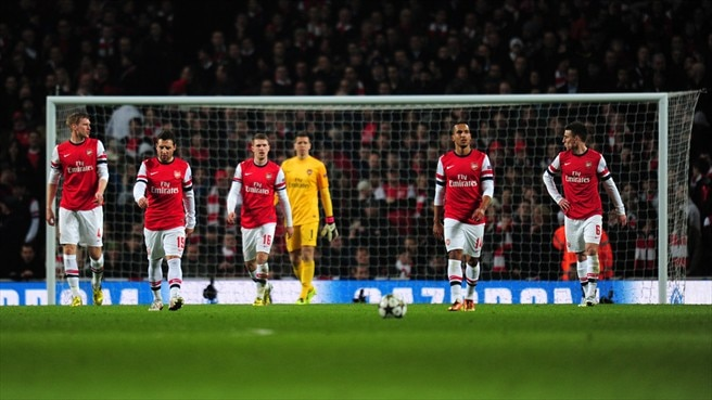 Arsenal FC dejection