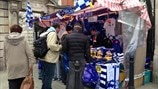 Stalls outside Stamford Bridge