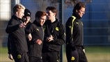 Dortmund training and press conference