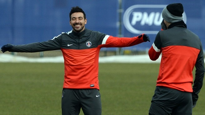 Ezequiel Lavezzi & David Beckham (Paris Saint-Germain FC)