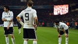 Valencia CF players stand dejected