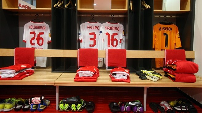 VfB Stuttgart dressing room