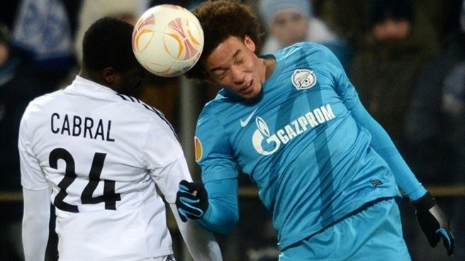 Axel Witsel (FC Zenit St Petersburg) & Cabral (FC Basel 1893)