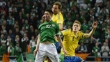 Robbie Keane (Republic of Ireland) & Rasmus Elm (Sweden)