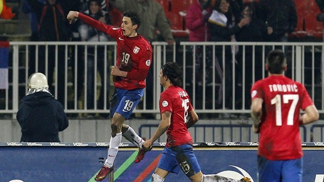 Djuričić double helps Serbia beat Scotland