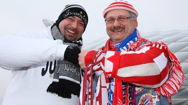 Juventus and FC Bayern München supporters