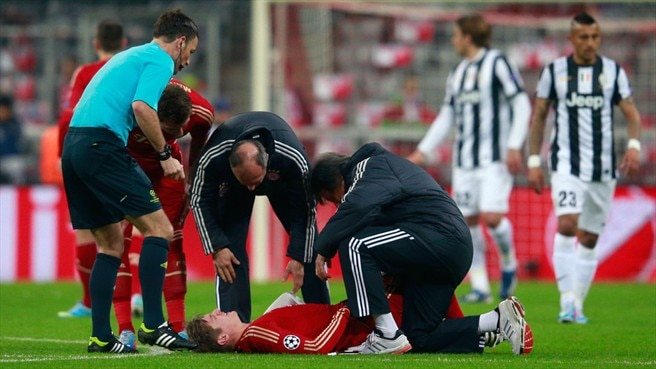 Bayern's Kroos sidelined for up to eight weeks