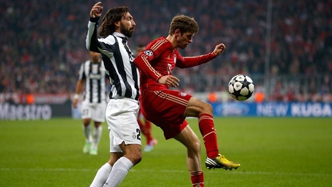 Andrea Pirlo (Juventus) & Thomas Müller (FC Bayern München)