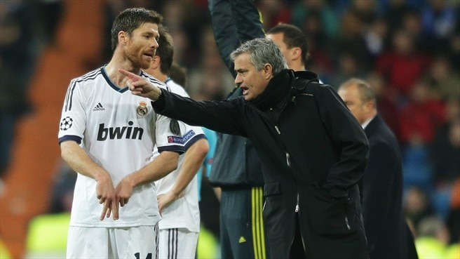 Xabi Alonso & José Mourinho (Real Madrid CF)