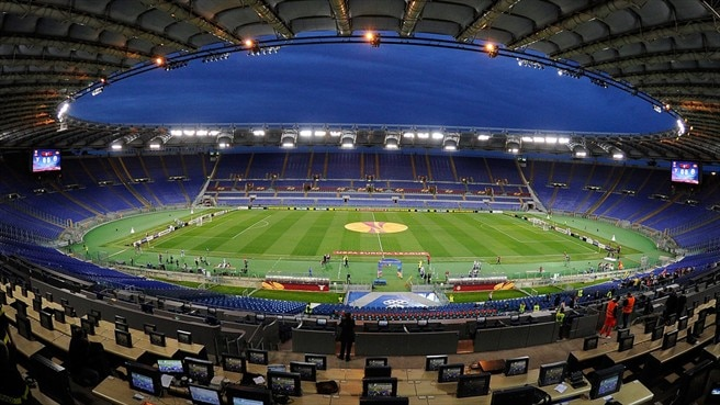 A general view of the Stadio Olimpico