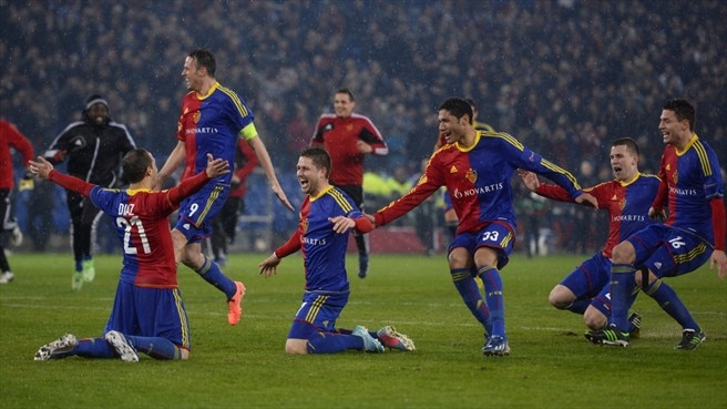FC Basel 1893 players celebrate