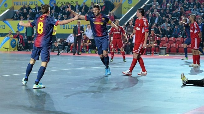 Barcelona wrap up third successive futsal treble