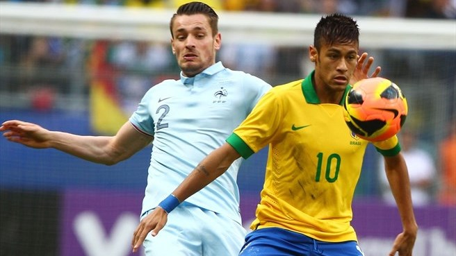 Brazil hit three past France