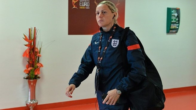 Kelly Smith arrives (England)