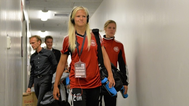 Pernille Harder arrives (Denmark)