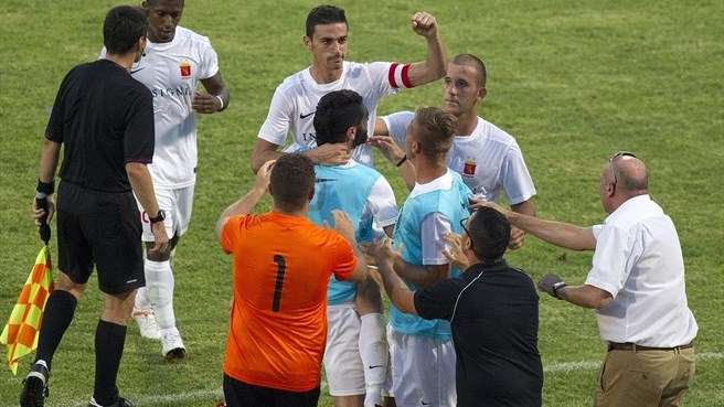 Valletta FC celebrate