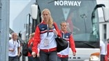 Marit Christensen arrives (Norway)