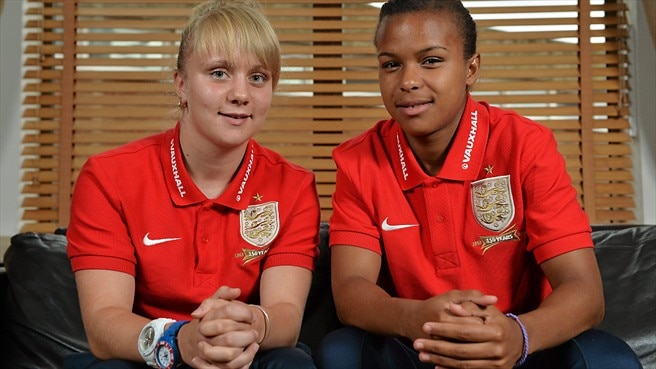 England's Parris and McCue 'ready for anybody'
