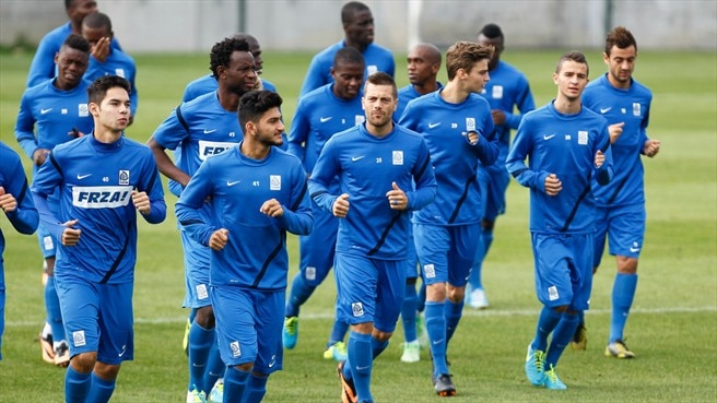 KRC Genk training session