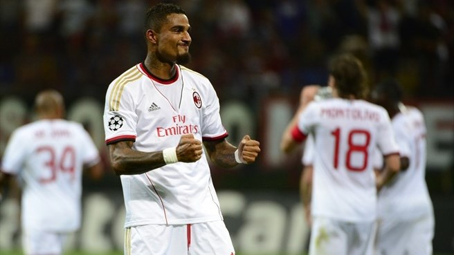 Boateng double helps Milan power past PSV