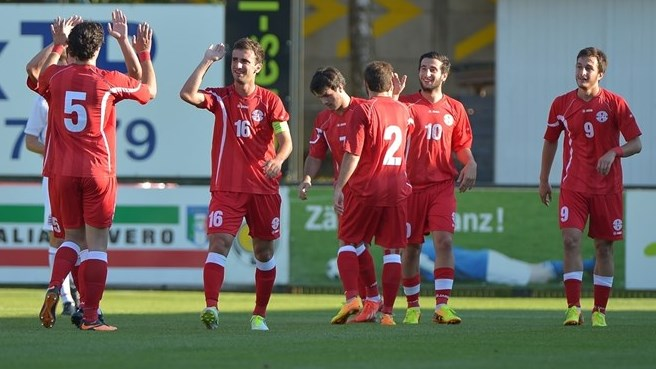 Georgia punish ten-man Luxembourg