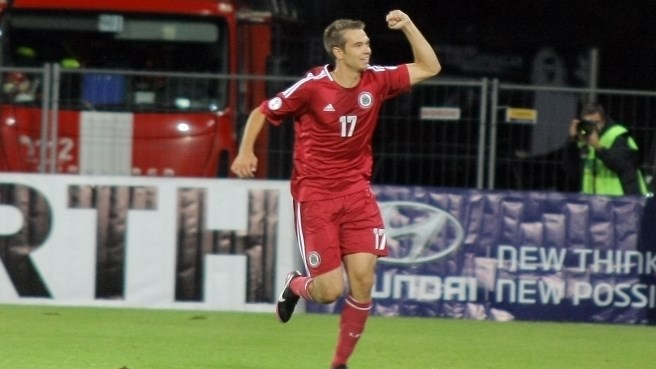 First-half Latvia goals defeat Lithuania