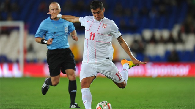 Serbia finish with a flourish against FYROM