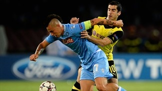 Napoli 2-1 Dortmund: the story in photos