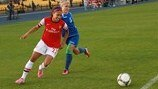 Alex Scott (Arsenal Ladies FC) & Oksana Shpak (WFC CSHVSM-Kairat)