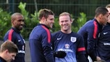 Jermain Defoe, James Milner & Wayne Rooney (England)
