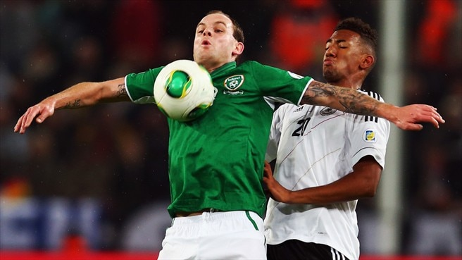 Anthony Stokes (Republic of Ireland) & Jérôme Boateng (Germany)