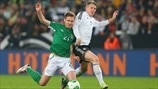 Kevin Doyle (Republic of Ireland) & Bastian Schweinsteiger (Germany)