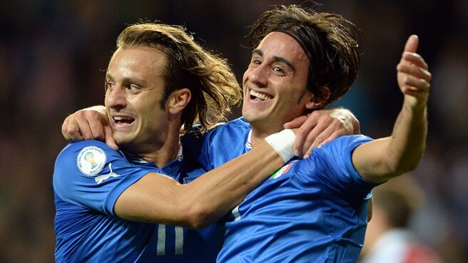 Denmark denied at the death by Italy's Aquilani