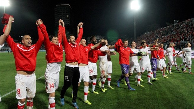 Swiss celebrating third successive qualification