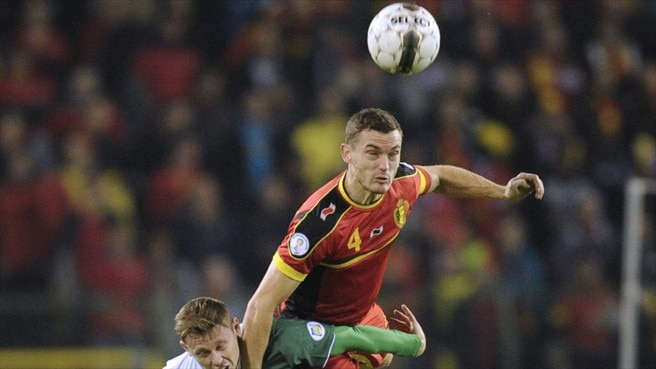 Thomas Vermaelen (Belgium) & Simon Church (Wales)