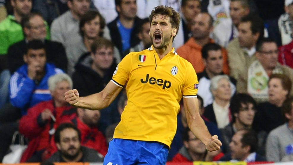 Fernando Llorente celebrates drawing the sides level with his 22nd    Fernando Llorente Juventus Goal