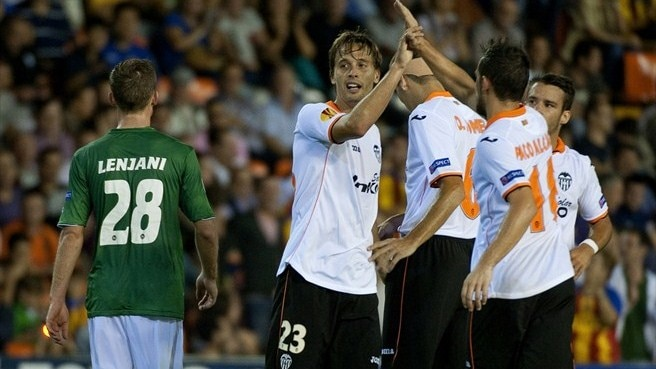 Rampant Valencia make light work of St Gallen
