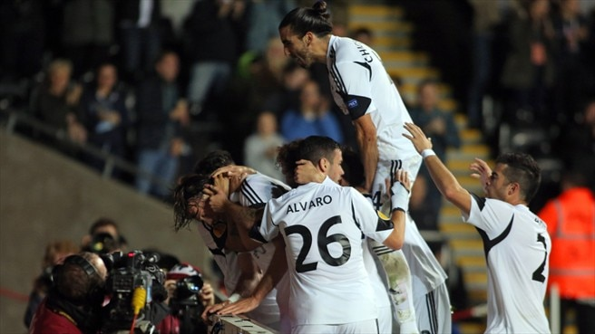 Swansea City AFC celebrate