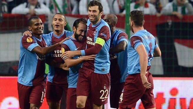 Progress in sight for Trabzonspor after Legia win