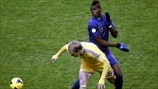 Roman Bezus (Ukraine) & Paul Pogba (France)