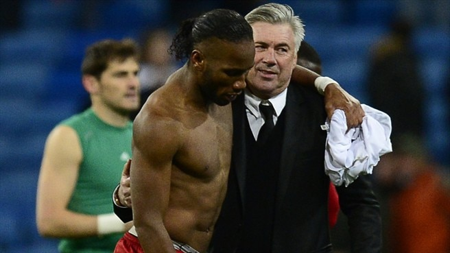 Image result for drogba+Ancelotti