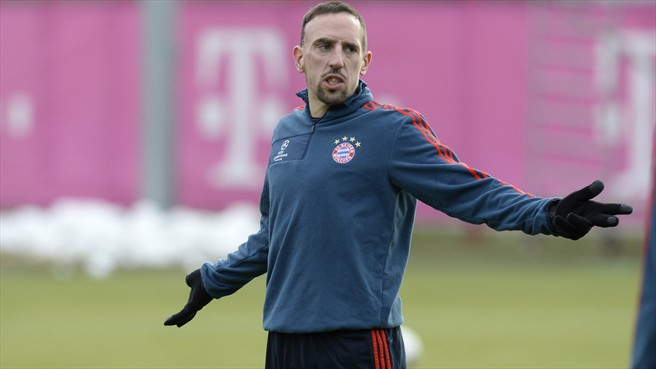 Ribéry ruled out of Arsenal first leg