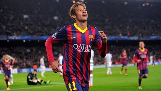 Barcelona hat-trick hero Neymar's joy