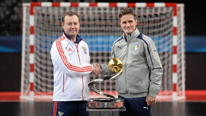 Russia and Italy gear up for Antwerp final