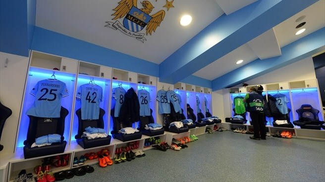Manchester City Fc Dressing Room Uefa Champions League