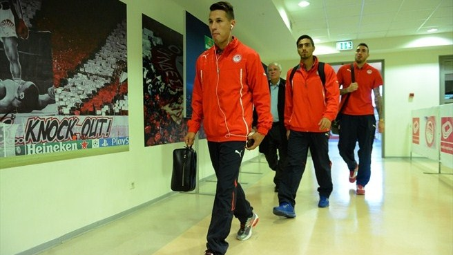 Olympiacos FC arrive